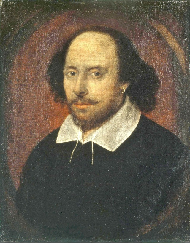 oil painting of William Shakespeare